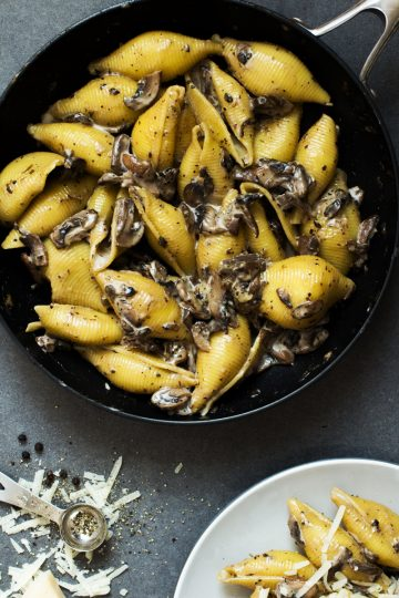 Creamy Mushroom Pasta Recipe and Food Photography by Shika Finnemore, The Bellephant