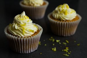 Lemon Cupcakes with Lemon Butter Cream Icing. Recipe and Food Photography by Shika Finnemore, The Bellephant.