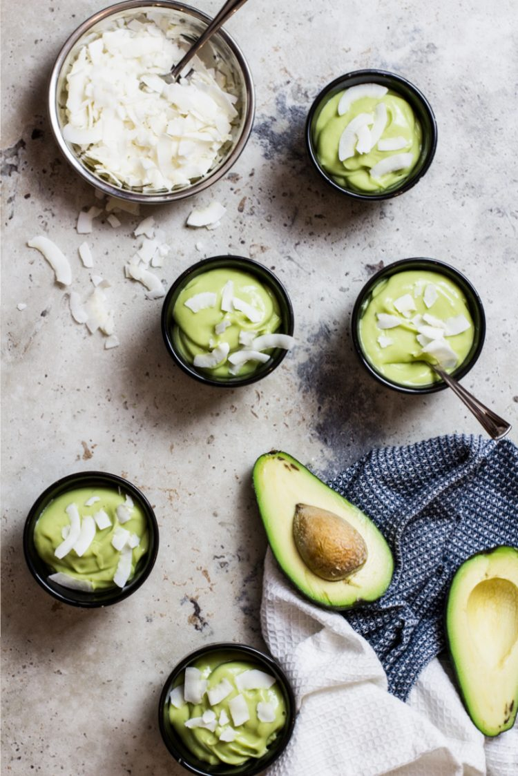 Coconut Avocado Mousse. Recipe and Food Photography by Shika Finnemore, The Bellephant.