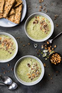 Creamy Coconut Broccoli Soup. Recipe and Food Photography by Shika Finnemore, The Bellephant