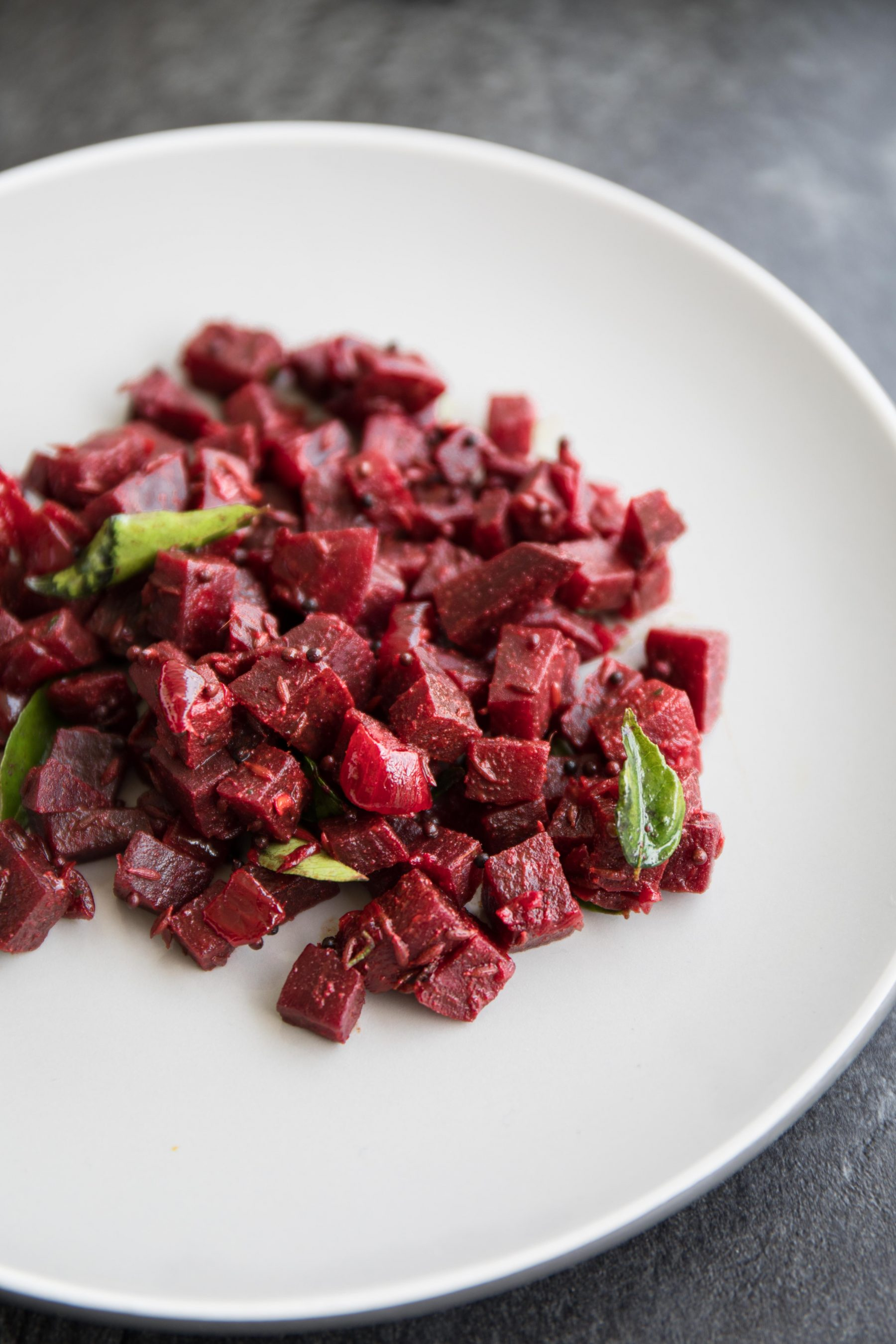 Sri Lankan Dry Beetroot Curry Recipe and Food Photography by Shika Finnemore, The Bellephant