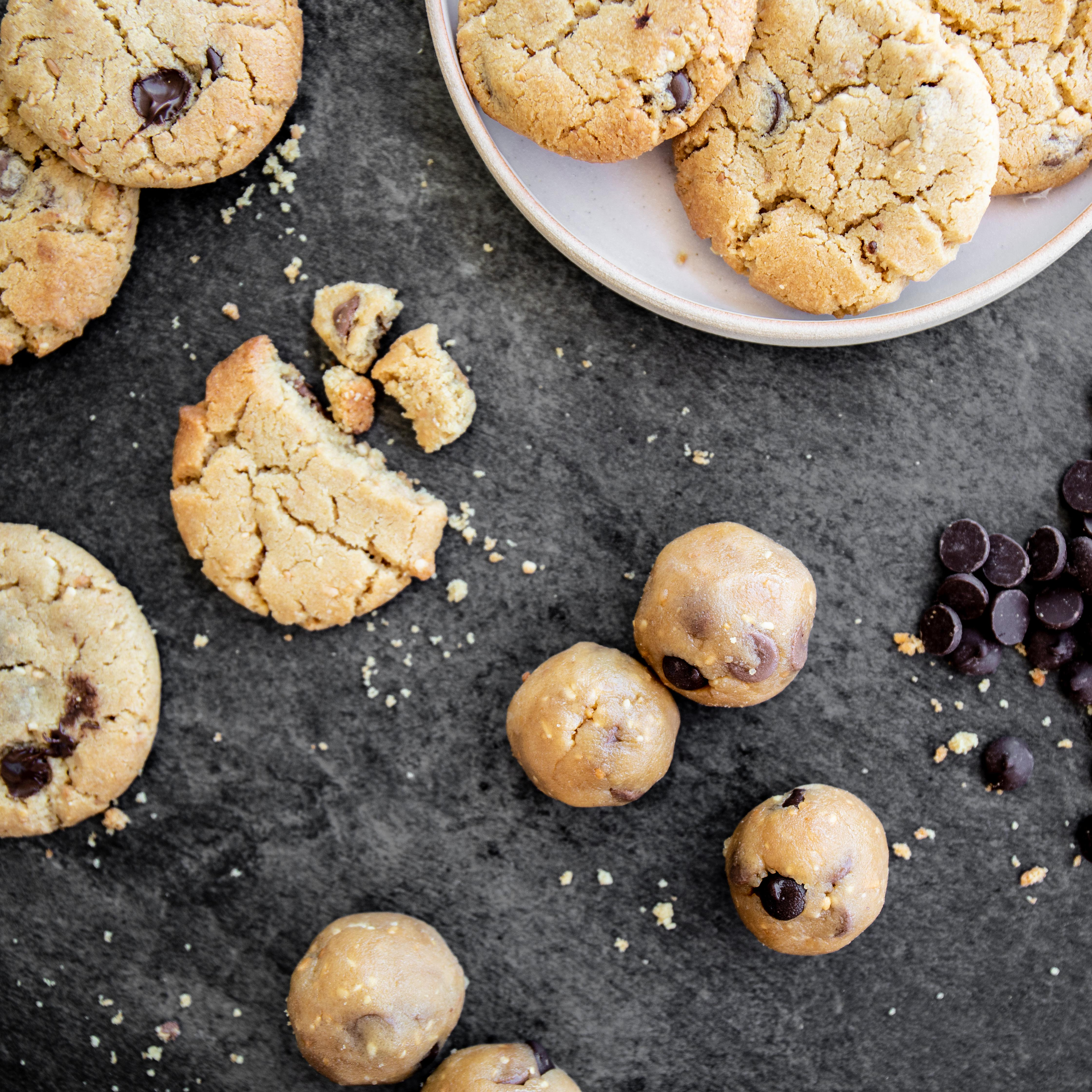 Peanut Butter Chocolate Chip Cookies - Recipe and Food Photography by Shika Finnemore, The Bellephant