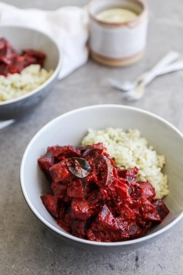 Creamy Beetroot Curry