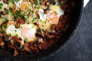 One-Pot Smoky Eggs and Beans