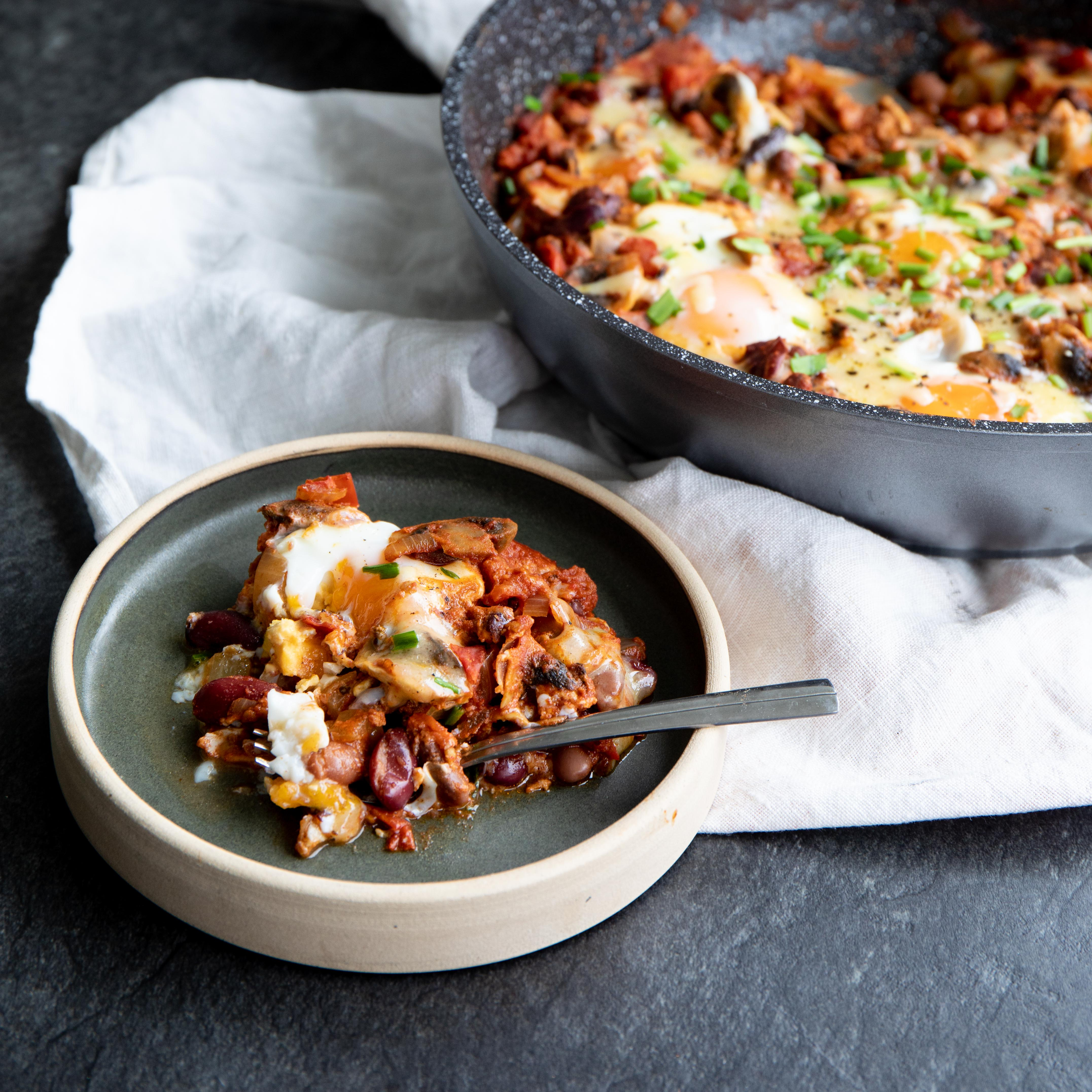 One-Pot Eggs and Smoky Beans