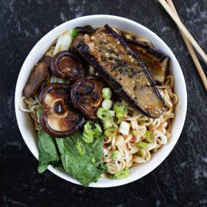 Miso Ramen with Miso Egglplant Recipe by Shika Finnemore - The Bellephant www.thebellephant.com
